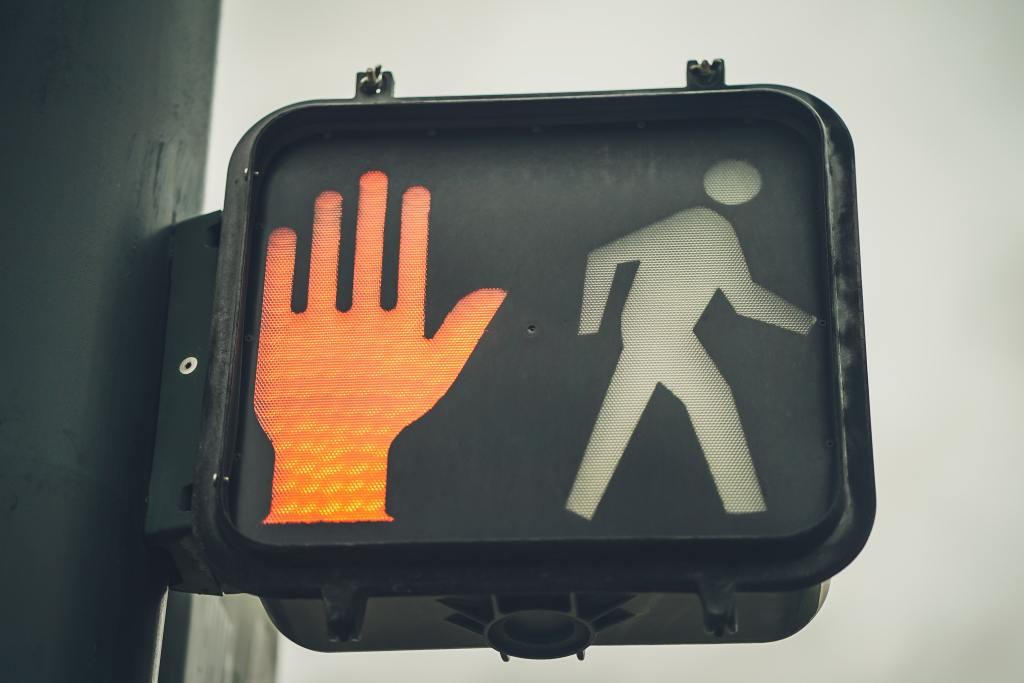 Crosswalk sign.